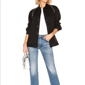 Alexander Wang x Denim zip jacket in black fade